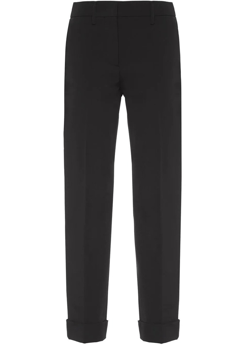 Prada slim-fit cropped trousers