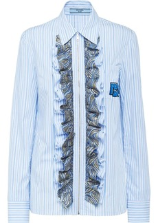 Prada striped ruffled shirt
