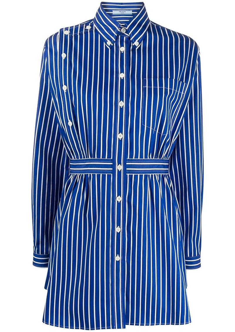 Prada striped short shirt dress