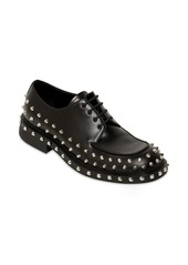 Prada Studded Leather Lace-up Shoes
