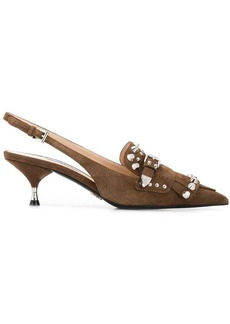 Prada studded pointed pumps