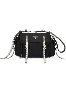 Prada studded strap shoulder bag