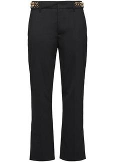 Prada studded waist cropped trousers