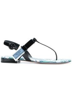 Prada T-bar printed sandals
