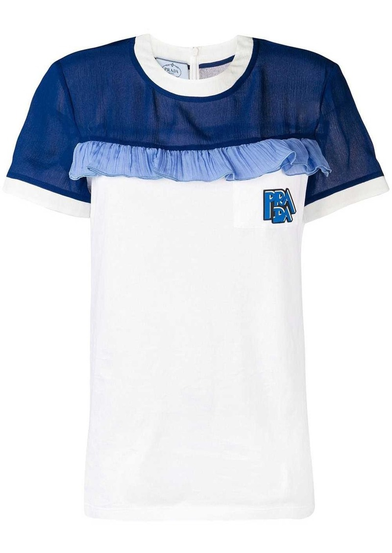 Prada T-shirt with ruffle detail