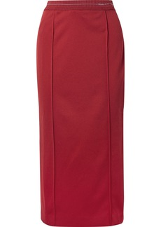 Prada Tech-jersey Midi Skirt