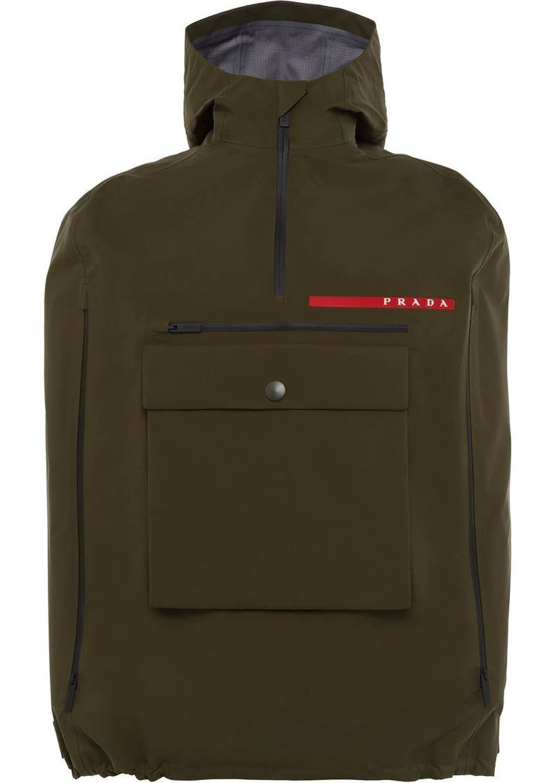Prada Linea Rossa technical cape jacket
