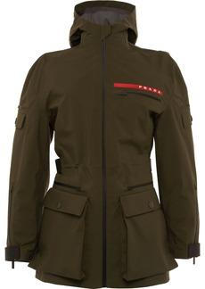 Prada technical fabric short military jacket