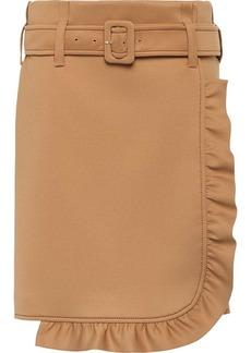 Prada Technical jersey skirt with ruffles