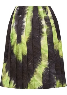 Prada tie-dye pleated skirt