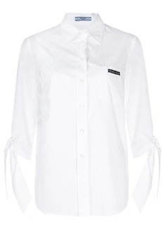Prada tied cuff tailored shirt