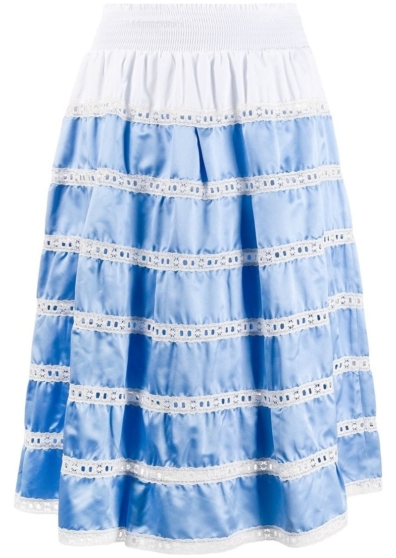 Prada tiered high-waisted skirt