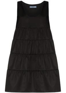 Prada tiered u-neck mini dress