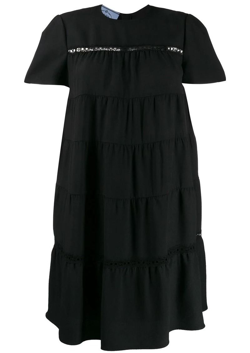 Prada tiered shift dress