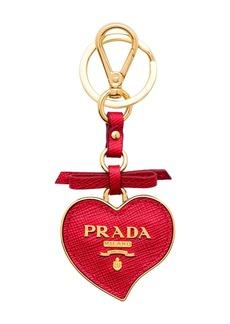 Prada Trick heart-shaped keychain