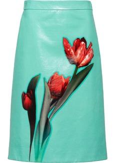 Prada tulip print A-line skirt