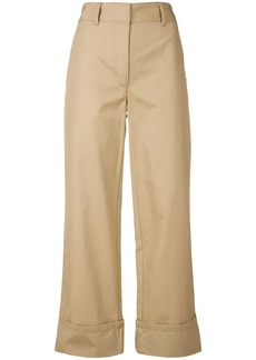 Prada turn-up hem trousers