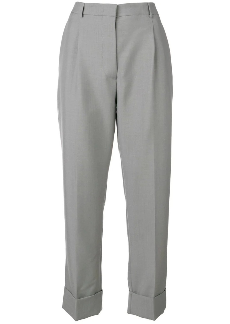 Prada turn-up tailored trousers
