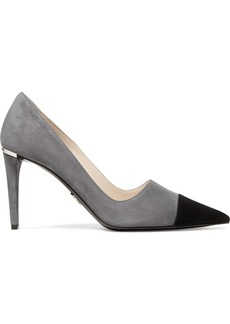 Prada Two-tone Suede Pumps