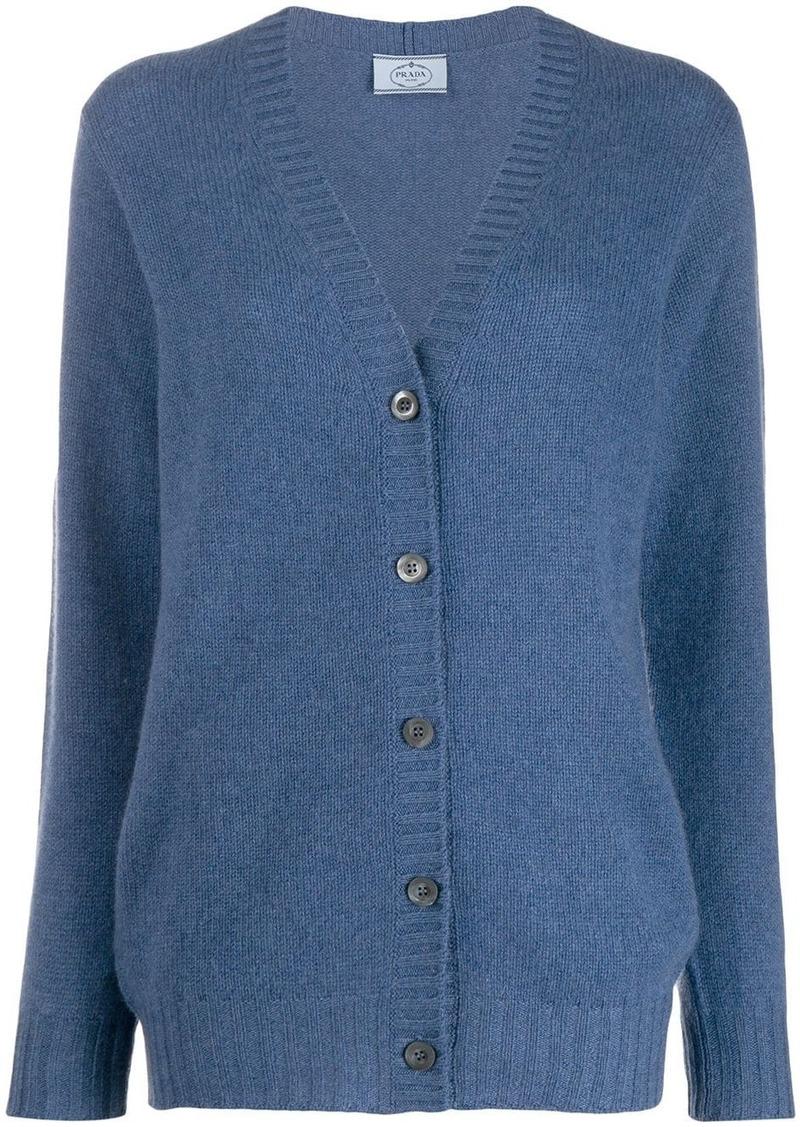 Prada v-neck cashmere cardigan