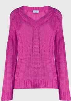 Prada v-neck chunky knit jumper