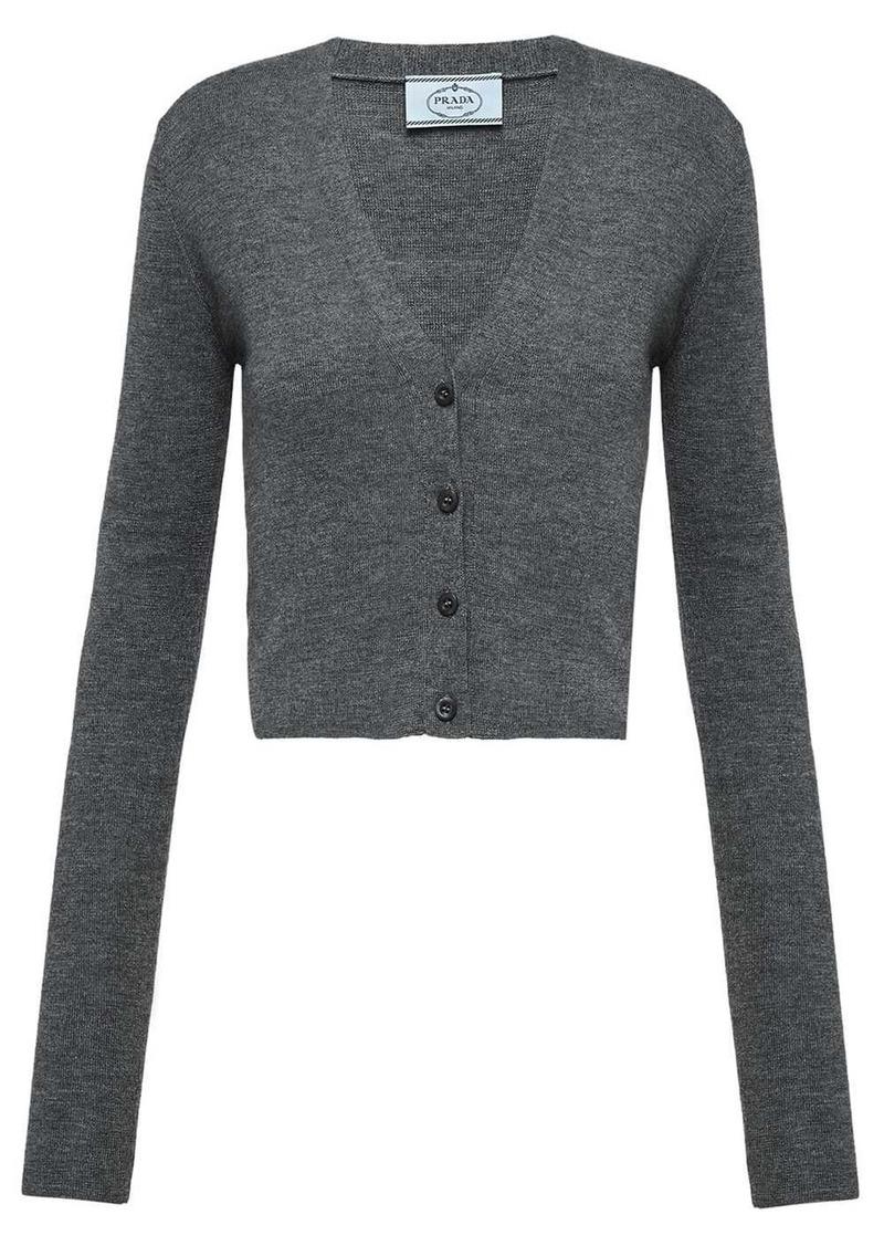 Prada v-neck knitted cardigan