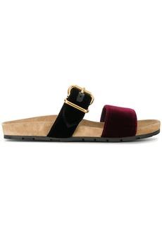 Prada velvet double strap sandals
