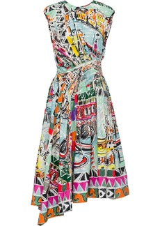 Prada Venice print poplin dress