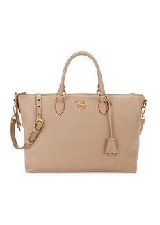 Prada Phenix Vitello Leather Shoulder Bag