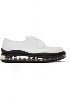 Prada White Leather Bounce Derbys