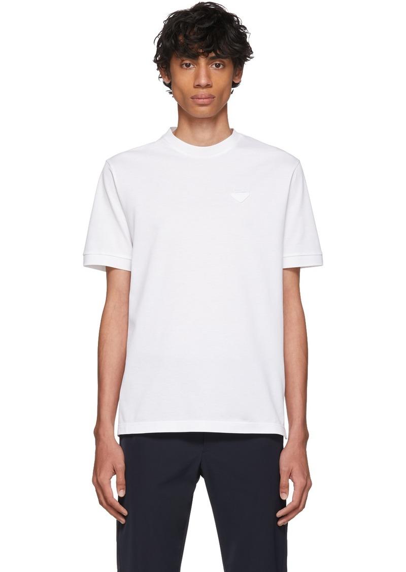Prada White Piqué T-Shirt