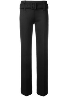 Prada wide buckle trousers