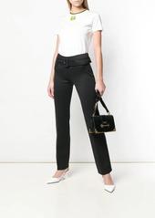 Prada wide buckle trousers