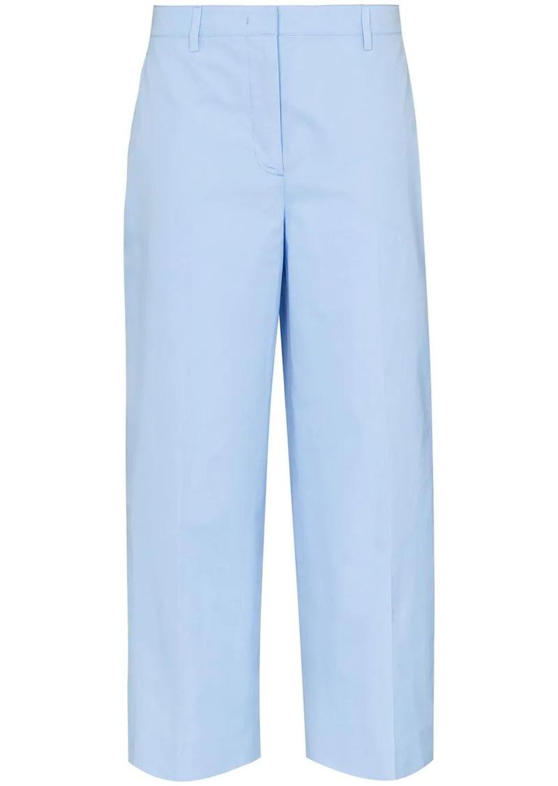 Prada wide leg cropped trousers