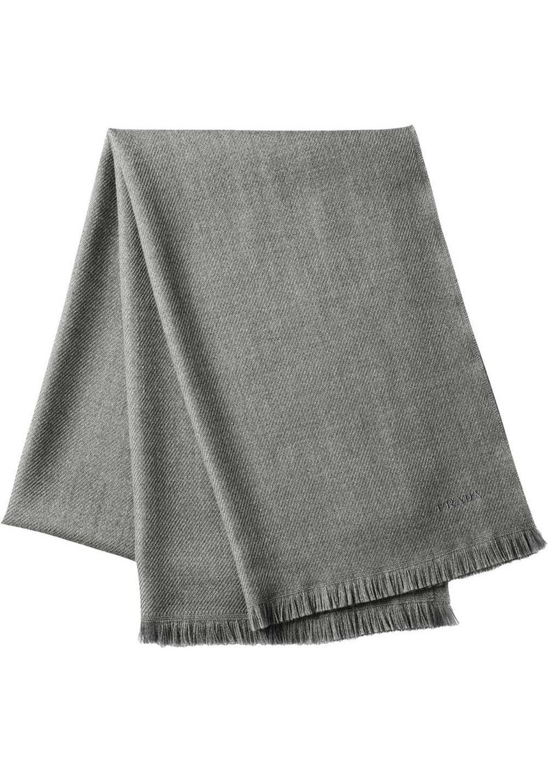 Prada wool twill scarf