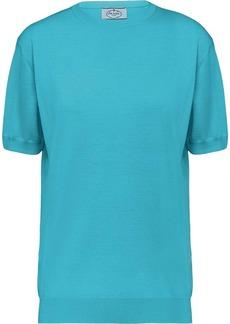 Prada Worsted fine-knit T-shirt