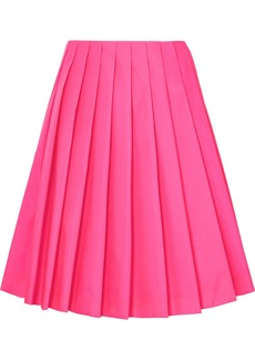 Prada Wrap-effect Pleated Shell Skirt