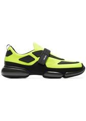 Prada yellow Cloudbust knitted neon sneakers