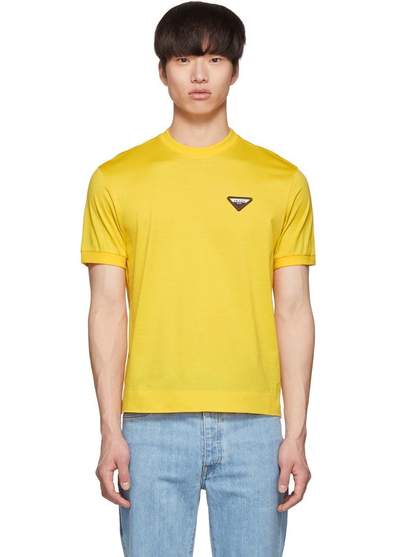 Prada Yellow Wire Of Scotland T-Shirt