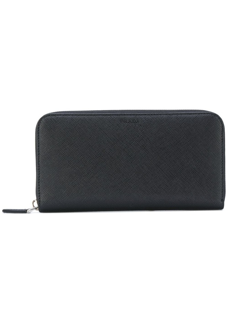 Prada zip-around wallet