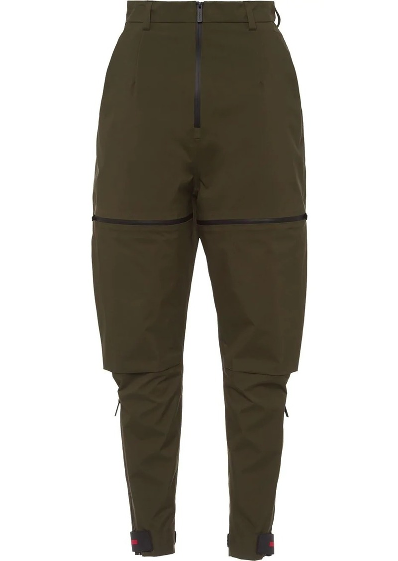 Prada zip details layered trousers