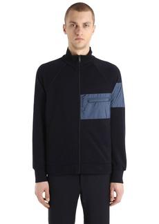 Prada Zip-up Cotton Jersey & Nylon Sweatshirt