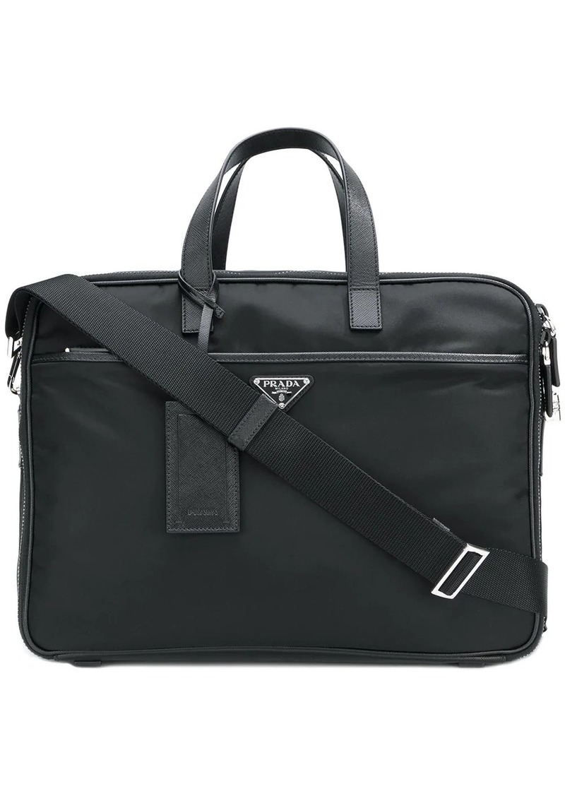 Prada zipped briefcase
