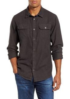 prAna Lybek Regular Fit Herringbone Flannel Shirt