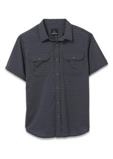 prAna Men's Cayman Stripe Short Sleeve Button-Up Shirt