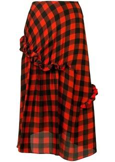 Preen Adrienne gingham print skirt