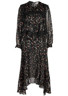 Preen Antoinette Printed Silk Dress with Lace