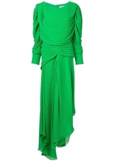 Preen asymmetric pleated dress
