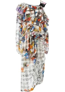Preen asymmetric printed dress