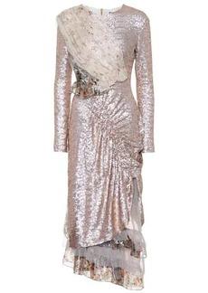 Preen Baijie metallic sequin dress